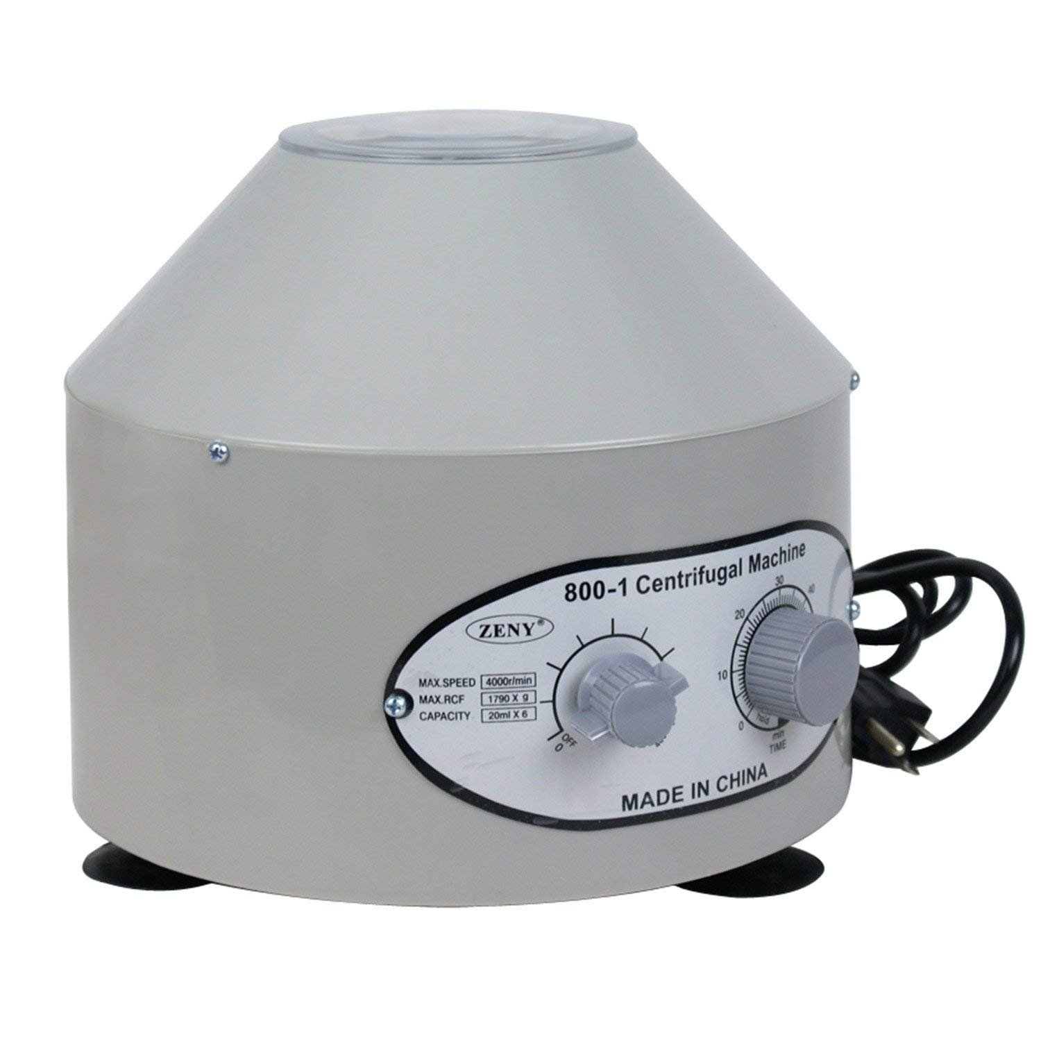 ZENSTYLE Pro Desktop Electric Centrifuge Machine 800-1 110v 4000rpm 6x20ml Low Speed Lab Medical Practice w/Time Speed Control