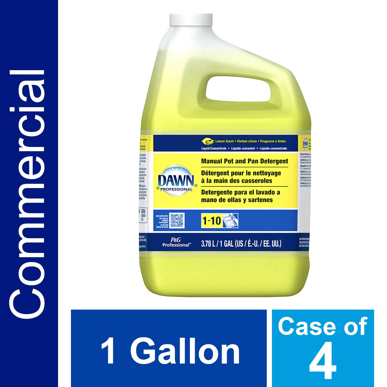 Dishwashing Liquid Soap Detergent by Dawn Professional, Bulk Degreaser Removes Greasy Foods from Pots, Pans and Dishes in Commercial Restaurant Kitchens, ...