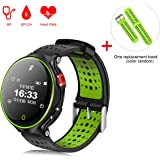Padcod Smart Watch IP68 Waterproof, Bluetooth Tracker Watch with Pedometer, Sleep Monitor, Heart Rate Monitor, Phone Message Push Fitness Activity Tracker (Green)