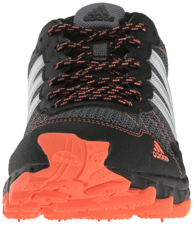 adidas Women's Rockadia Trail W Running Shoe Black/White/Easy Orange 6 M US by adidas (Image #4)
