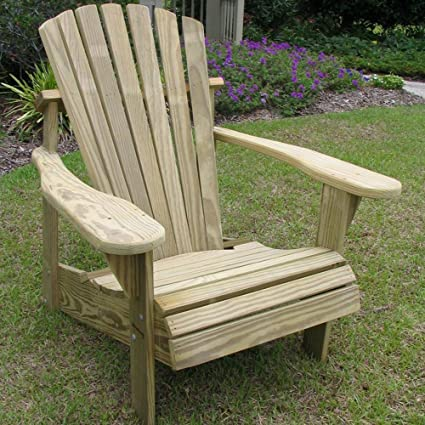 Weathercraft Designers Choice Pine Adirondack Chair   Natural