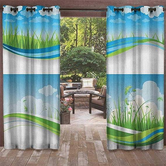 Amazon.com: Leinuoyi Naturaleza, ojal de cortina para ...