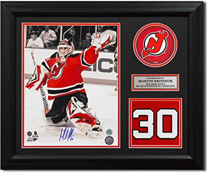 Autographed NHL Pucks Martin Brodeur New Jersey Devils Autographed Official Game Puck Fanatics Authentic Certified