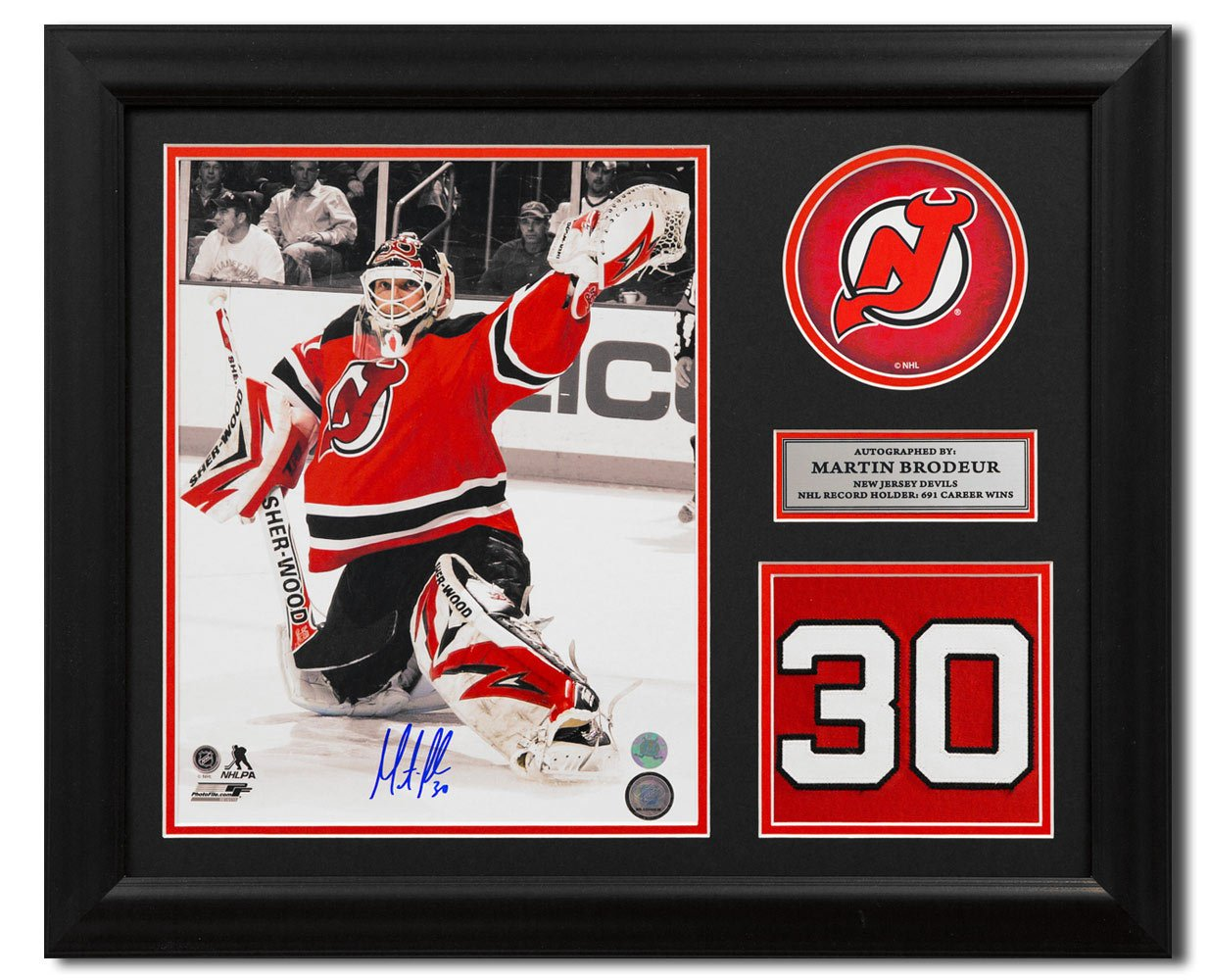 Martin Brodeur New Jersey Devils Signed Retired Jersey Number 23x19 Frame  at Amazon s Sports Collectibles Store 63ebc7230