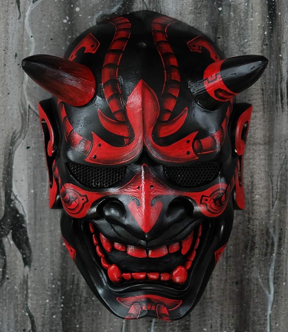 Tripple_777 Hannya Kabuki Demon Oni máscara de airsoft BB arma disfraz de Halloween malvado Cosplay MA244