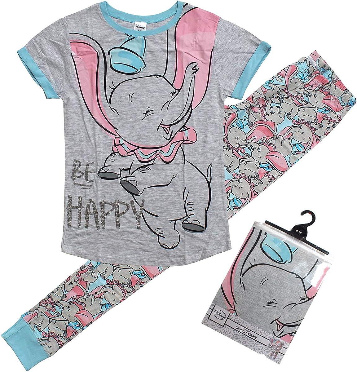 Femme Nouveauté Personnage Disney Dumbo Pjs Pyjamas Set Cadeau Idéal