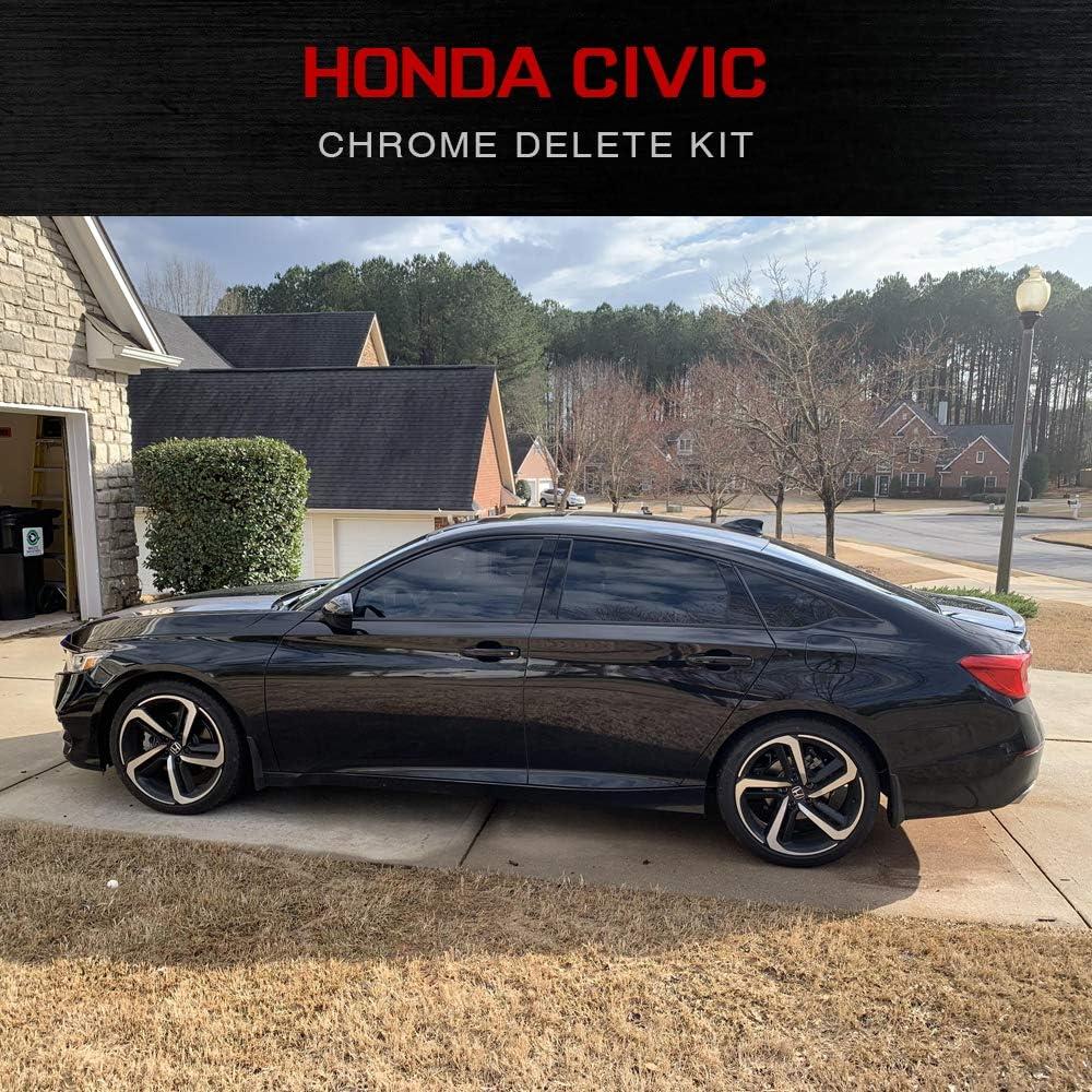 Precut Black Auto Vinyl Chrome Delete Kit Civic Sedan 2016-2019 XPLORE OFFROAD