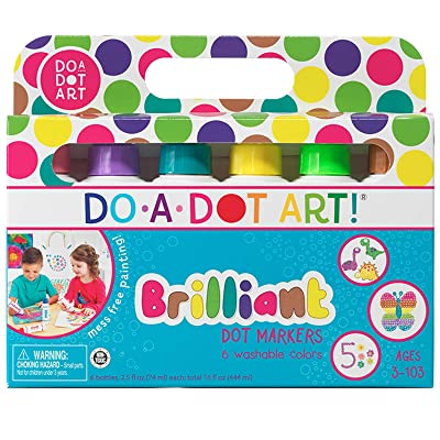 Do A Dot Art! Markers Brilliant Washable 6 pack, The Original Dot Marker: Toys & Games