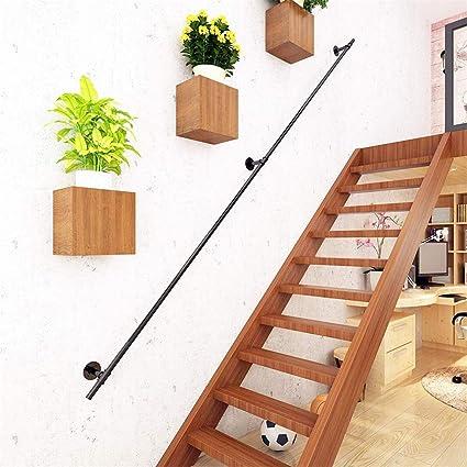 Rampe d/'escalier Main courante Noir 60cm Mur support intérieur en Fer forgé