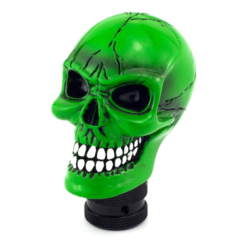 Small Teeth Devil Head Style Gear Shift Knob Fit Most Manual Automatic Vehicles Thruifo Skull MT Car Stick Shifter Red