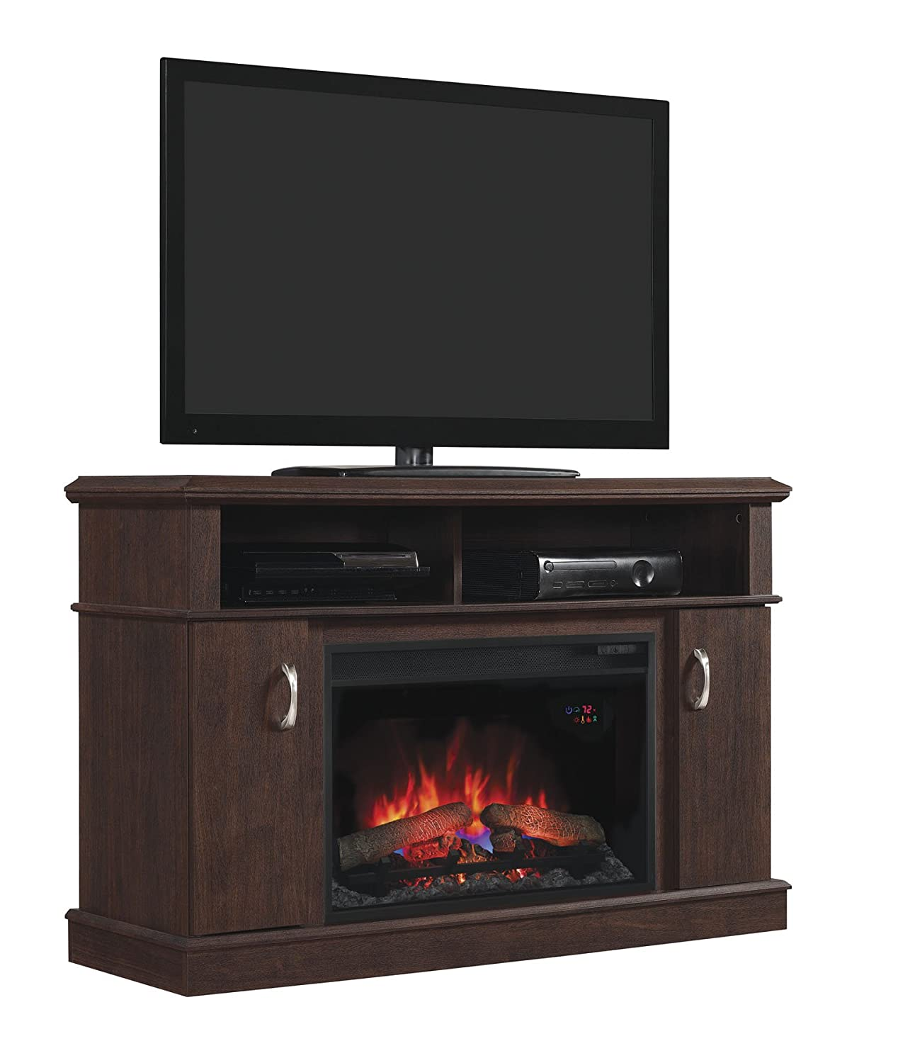 Amazoncom Dwell Infrared Electric Fireplace Entertainment Center