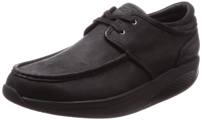 Black MBT shoes Men's Kheri 6S Lace Up Casual shoes Leather lace-up