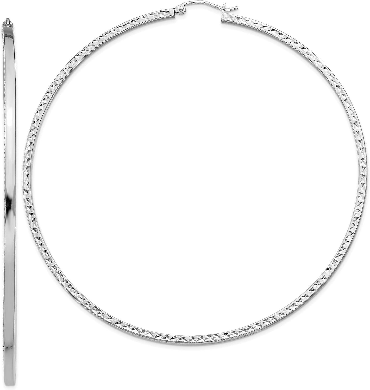 Sterling Silver D.C Square Tube Hoop Earrings