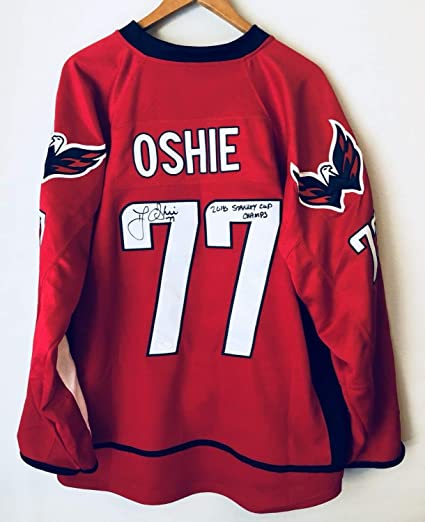 Tj Oshie 2018 Stanley Cup Champs Autographed Signed Washington ... 72c477303f0