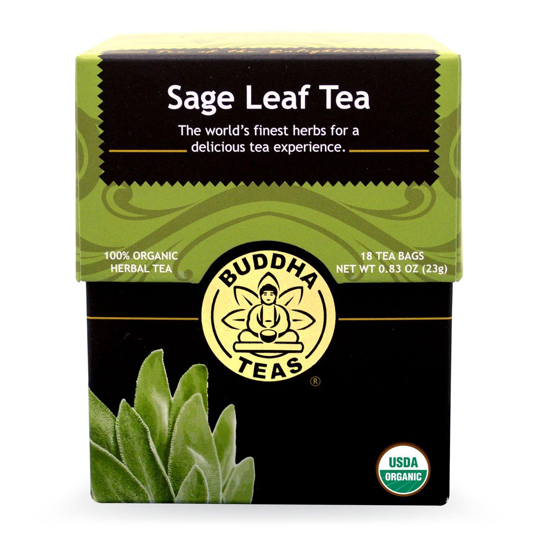 Buddha Teas Sage Leaf Tea, 18 Count (Pack of 6)