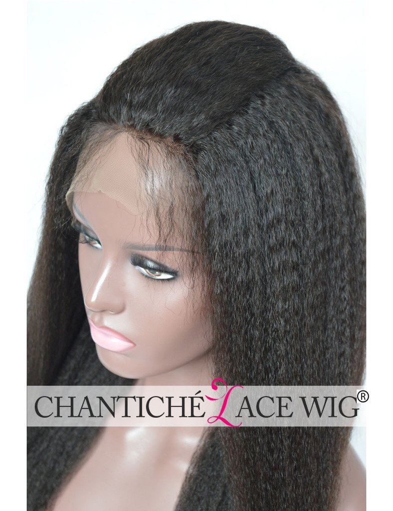 Chantiche Natural Looking Italian Yaki Glueless Full Lace Wigs with Baby Hair for Black Women Best Brazilian Remy Human Hair Wig 130 Density 16inch Natural Color by Chantiche Lace Wig (Image #6)