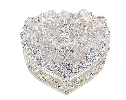 """2 """"Corazón plata juego de Arras de boda, plata Arras para boda con"""