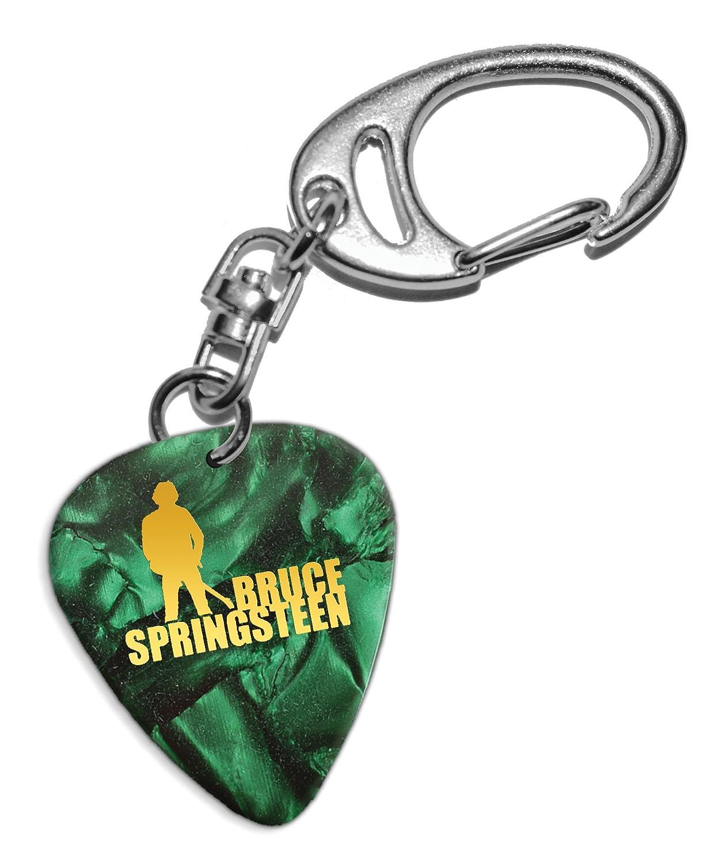 Bruce Springsteen Púa de Guitarra Llavero Keyring Green Pearl ...