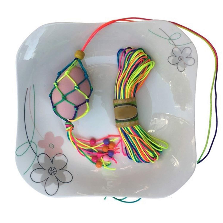 DIY Handwerk Beading Cord String Kinder Geschenk perlen f/ür Armb/änder Haarband Halskette 8mm 1mm LEBENSWERT Elastische Schnur Regenbogen Perlenschnur mit 100 St/ück Perlen zum Auff/ädeln