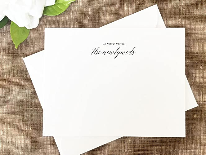 amazon com newlyweds thank you notes bride and groom notes