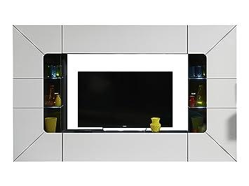 trendteam smart living tv mobel lowboard weiss hochglanz 220 x 50 x 53 cm