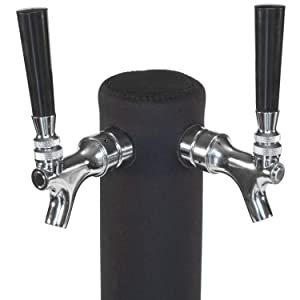 """Kegerator Tower Cooler Custom Sleeve for Beer Tower – Neoprene - Perfect Fit for Kegerator Tap Tower – Easy to Use Beer Tower Cooler Accessory (3.0"""" Diameter x 11.5"""" Height Beer Tower)"""
