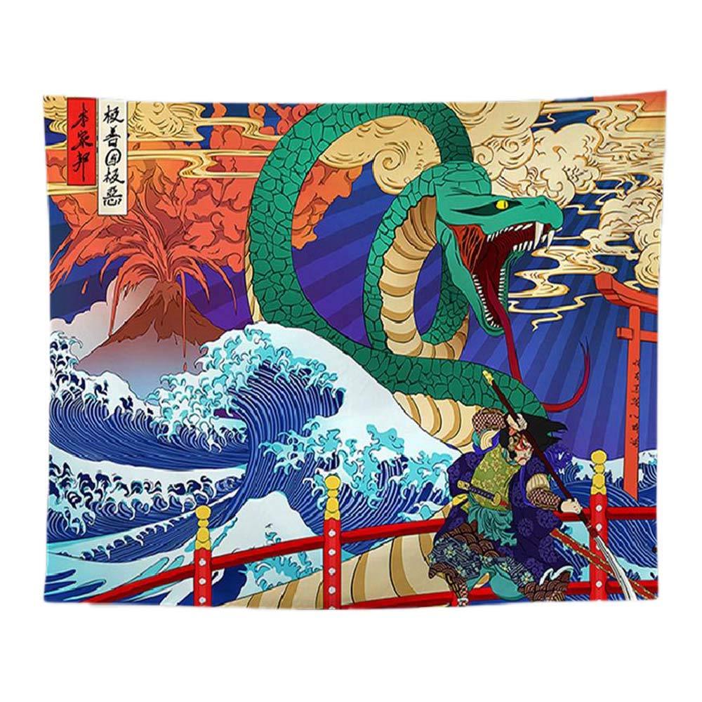 PYHQ Elefante de loto Tapiz Pared Urban Hippie Bohemia Boho Art Dormitorio/Fiesta/Cumpleaños Decoración,Animales Tema