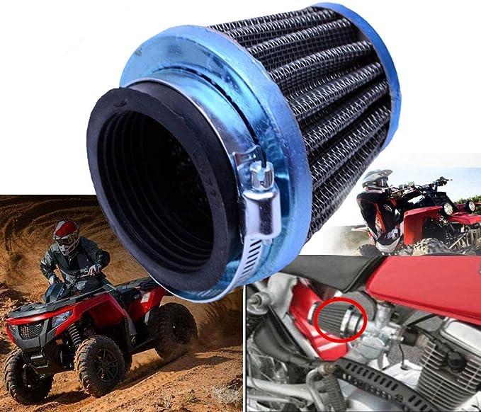 28mm Chrome Air Filter Fuel ATV Quad Pit Dirt bike Buggy  Scooter 50cc-125cc