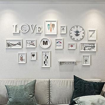 Amazon.de: Fotowand Europäische Uhr Wanduhr Wohnzimmer ...