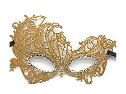 yuchoi funny mysterious phoenix lace hollow mask venetian masquerade mask halloween party golden