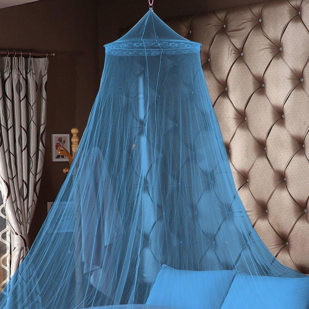 Mosquitera de Dosel de la Cama Estilo de Cúpula Redonda con Encaje Elegante Anti-Insectos para Camas Infantiles (60cmx250cm) laamei