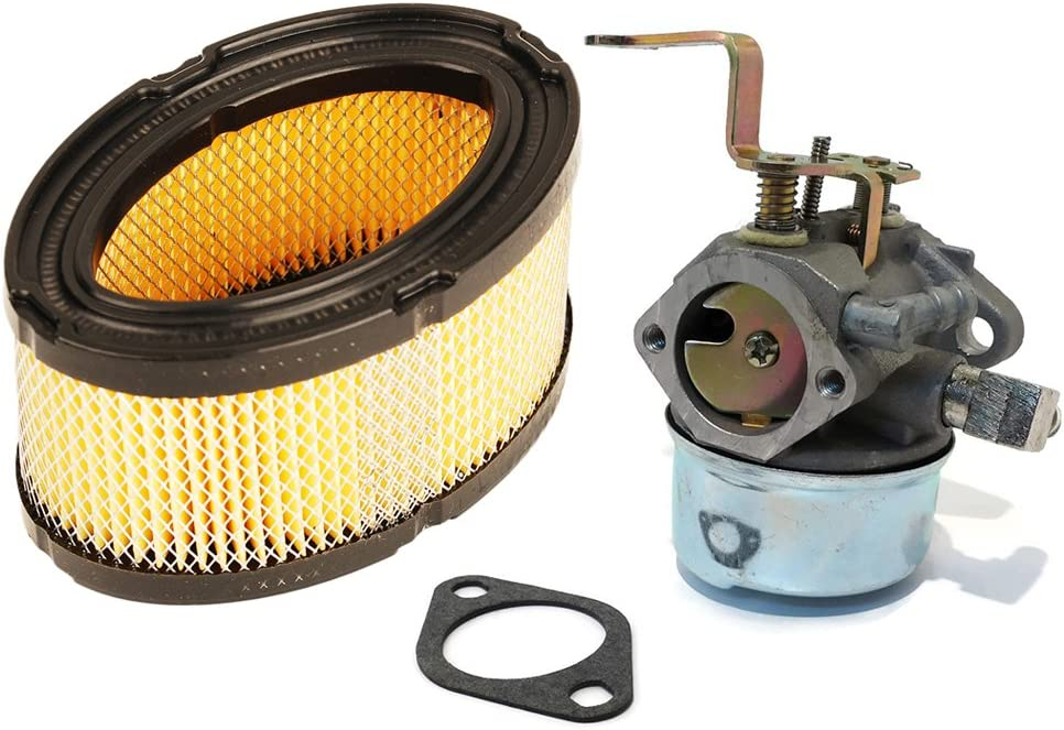 HIFROM Carburetor with Gasket Replacement for Tecumseh 640152A 640023 640051 640140 640152 HM80 HM90 HM100 with Air Filter Replacement for 33268 33263 M49746 30-100 Engines