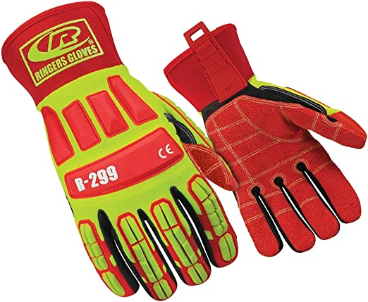 X-Large Cut-Resistant Gloves with KevLoc Grip Ringers Gloves R-33 Extrication Gloves
