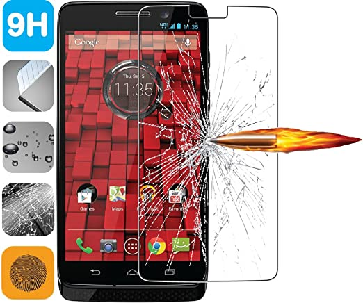 premium tempered glass lcd screen protector guard for motorola droid mini xt1030 amazoncom tempered glass