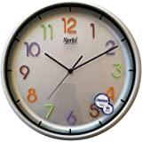 Ajanta Wall Clock For Home And Offices (31 cm x 31 cm , Silent Movement, Silver)