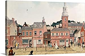 GREATBIGCANVAS Colonial Philadelphia Canvas Wall Art Print, Home Decor Artwork, 24
