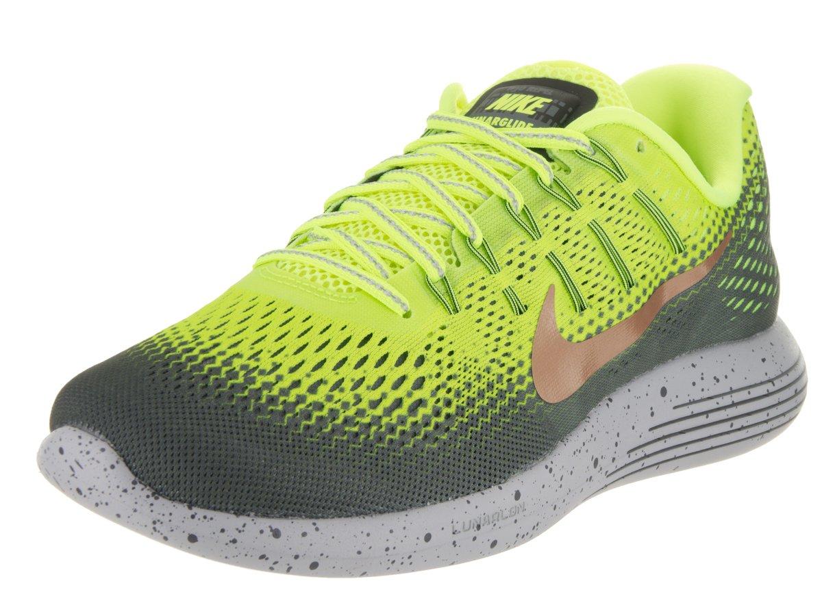 dd8a38ab6917d Galleon - Nike Mens Lunarglide 8 Shield Volt Mtlc Red Bronze Dark Grey  Running Shoe 11 Men US