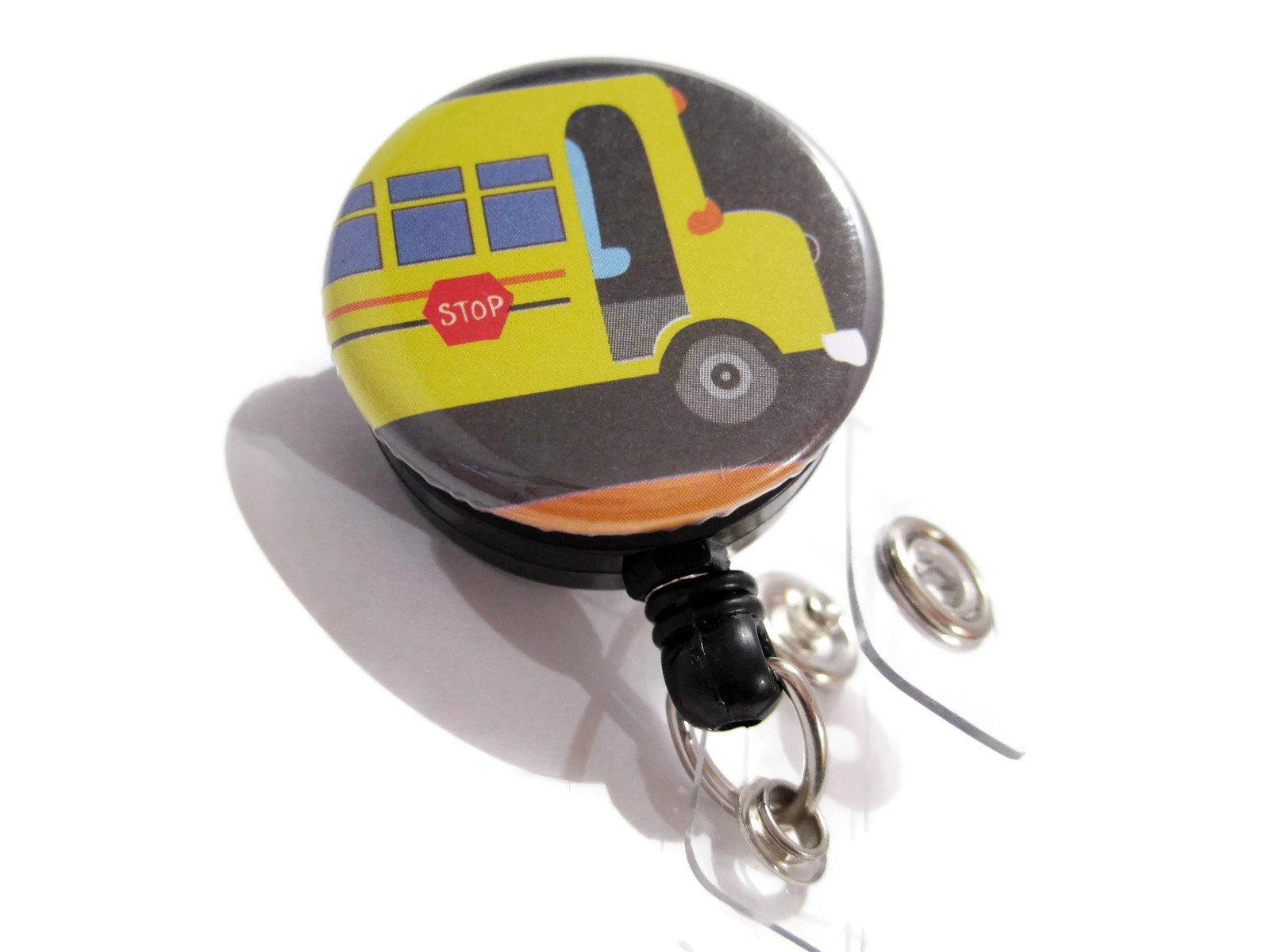 ATLanyards Bus Badge Holder, Bus Driver Gift, School Bus Driver Retractable Lanyard, 479