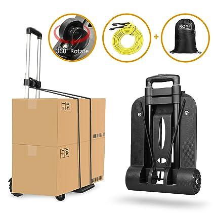 Carretilla plegable Wilbest, Carritos porta equipajes con 4 ruedas Carga máxima 75 kg/165