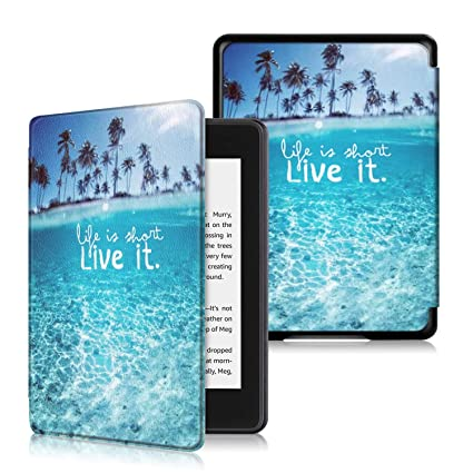Anvas Case for Kindle Paperwhite 10th Gen 2018,Thinnest Light Shell Smart Cover with Auto Wake/Sleep for All-New Amazon Kindle Paperwhite 6 Inch 2018 ...