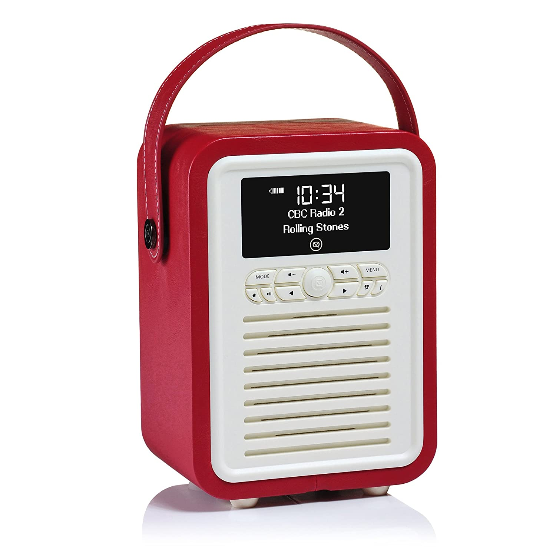 VQ Retro Mini HD & FM Radio Bluetooth Speaker - Brown