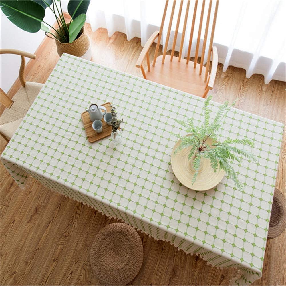SONGHJ Plaid Mantel de Lino Decorativo con Borla Impermeable a Prueba de Aceite Grueso Grueso Rectangular Cubierta de Tabla de la Boda Mesa de Comedor paño 60x60cm: Amazon.es: Hogar