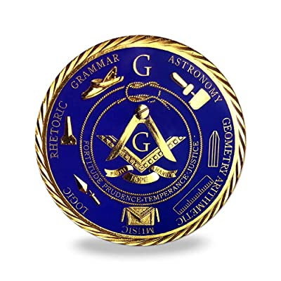 Freemason Masonic Brotherhood Car Emblems Gold Plated in Blue Masonic Accessories Gifts: Toys & Games