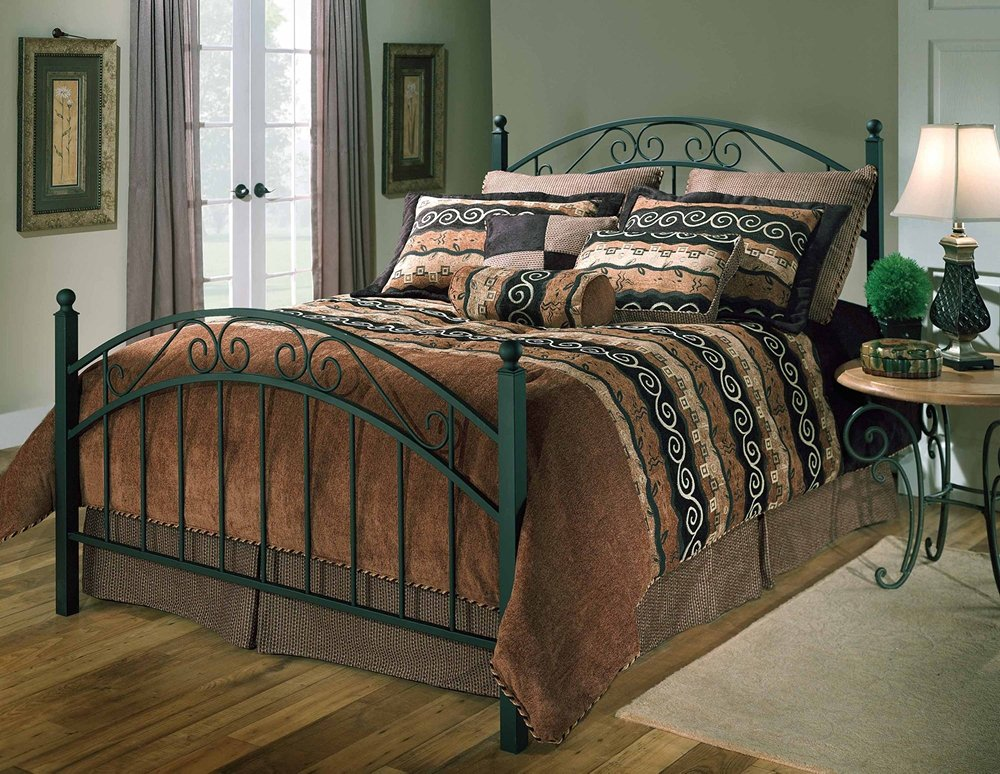Hillsdale Furniture 1142BKR Willow Bed Set with Rails - King - Textured Black