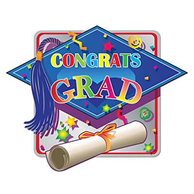 Beistle Printed Hi-Gloss Foil Graduation Sign: Toys & Games