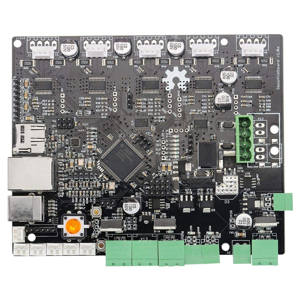 Zamtac 1 Piece of 3D Printer Smoothieboard 5X V1.0 ARM Open Source Board para CNC-SCLL - (Size: -, Color: Black)