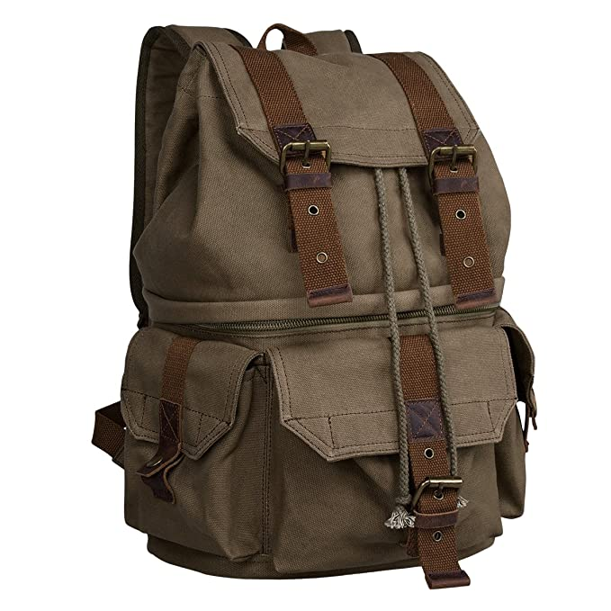 The S-Zone Canvas DSLR Camera Bag travel product recommended by Tina Butera on Lifney.