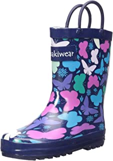 c4cd8657a3 OAKI Toddler Rain Boots - Kids Rain Boots for Girls   Boys - Waterproof Rubber  Boots