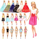 Barwa 10 Fashion Clothes Dresses + 3 Swimsuits + 3 Wedding Dresses for Girl Doll Clothes
