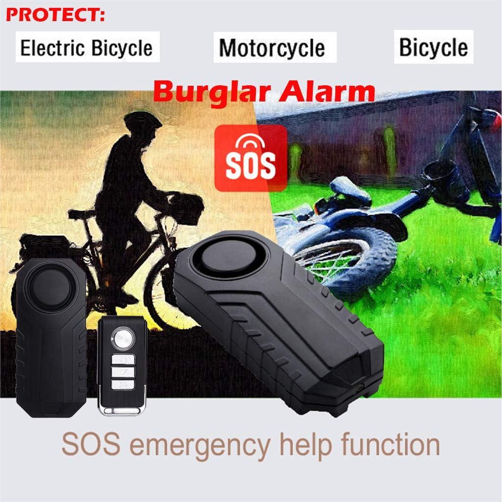 Wireless Anti-Theft Burglar Alarm for Bike Motorcycle Car Vehicles Door SOS !!!